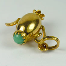 Load image into Gallery viewer, 18K Yellow Gold Turquoise Paste Coffee Pot Charm Pendant