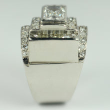 Load image into Gallery viewer, Art Deco Diamond Platinum Tank Ring