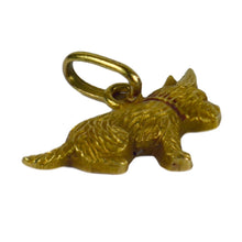 Load image into Gallery viewer, Yellow Gold Red Enamel Puppy Dog Charm Pendant