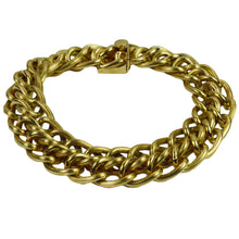 Load image into Gallery viewer, Yellow Gold Engraved Double Curb Link Bracelet