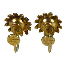Load image into Gallery viewer, Enamel Diamond Gold Flower Earrings