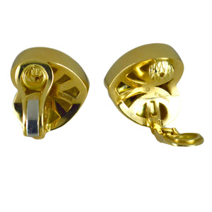 Marina B Yellow Gold Heart Ear Clip Earrings