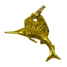 Load image into Gallery viewer, Gold Sailfish Charm