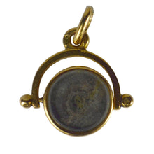 Load image into Gallery viewer, French 18kt Yellow Gold Spinning Fob Charm Pendant