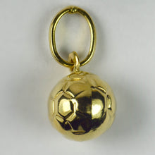 Load image into Gallery viewer, French 18K Yellow Gold Football Soccer Charm Pendant