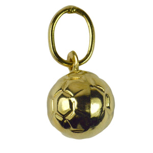 French 18K Yellow Gold Football Soccer Charm Pendant