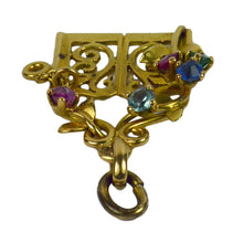 Load image into Gallery viewer, Yellow Gold Gem Set Garden Gates Charm Pendant