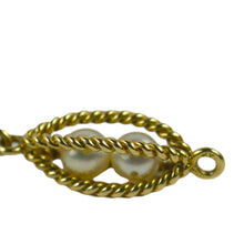 Load image into Gallery viewer, French 18 Karat Yellow Gold Caged Pearl Bracelet