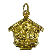 Load image into Gallery viewer, 9K Yellow Gold Swiss Cuckoo Clock Charm Pendant