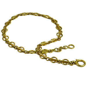 Yellow Gold Fancy Link Chain Bracelet