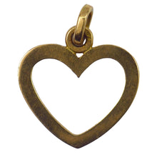 Load image into Gallery viewer, French Open Heart 18K Yellow Gold Charm Pendant