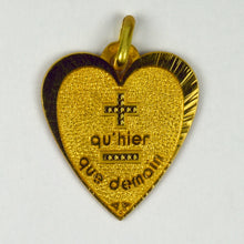 Load image into Gallery viewer, Augis French More Than Yesterday 18K Yellow Gold Love Heart Charm Pendant