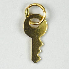 Load image into Gallery viewer, French 18K Yellow Gold Key Charm Pendant