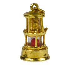 Load image into Gallery viewer, Yellow Gold Oil Lantern Lamp Light Charm Pendant
