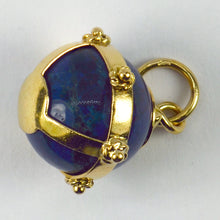 Load image into Gallery viewer, 18K Yellow Gold Swiss Lapis Sphere Charm Pendant