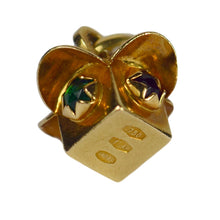 Load image into Gallery viewer, Yellow Gold Gem Set Stop Go Traffic Lights Charm Pendant