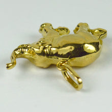 Load image into Gallery viewer, French 18K Yellow Gold Happy Elephant Lucky Charm Pendant