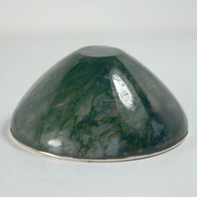 Load image into Gallery viewer, Moss Agate Silver Mounted Bowl