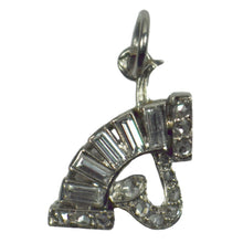 Load image into Gallery viewer, Art Deco Platinum and Diamond Music Charm