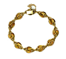 Load image into Gallery viewer, Pearl Ruby Gold Link Bracelet, circa 1900