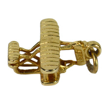 Load image into Gallery viewer, Yellow Gold Wright Brothers Model A Flyer First Military Airplane Charm Pendant