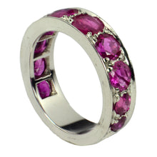 Load image into Gallery viewer, Natural Ruby White Gold Eternity Band Ring
