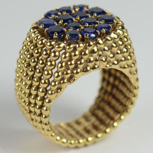 French Sapphire Gold Ring, circa 1950