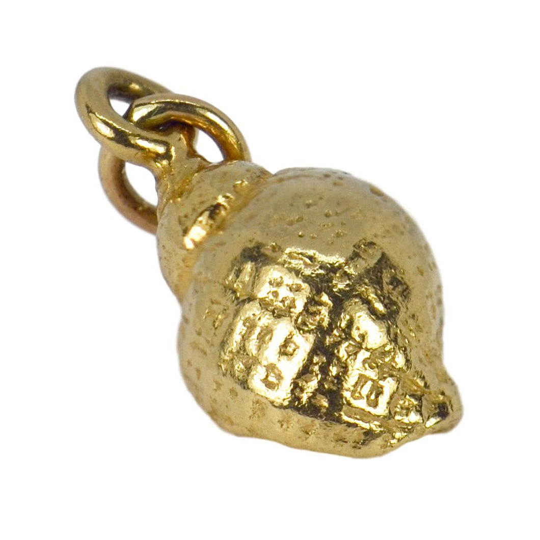 14K Yellow Gold Whelk Shell Charm Pendant