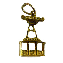 Load image into Gallery viewer, 18K Yellow Gold Ski Lift Charm Pendant