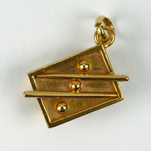 Load image into Gallery viewer, 18K Yellow Gold Snooker Table Charm Pendant