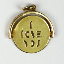 Load image into Gallery viewer, 9K Yellow Gold Spinning I Love You Charm Pendant