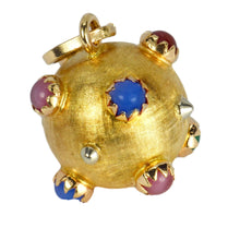 Load image into Gallery viewer, 18K Yellow Gold Paste Gem Sputnik Sphere Charm Pendant