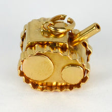 Load image into Gallery viewer, 18K Yellow Gold Military Tank Charm Pendant
