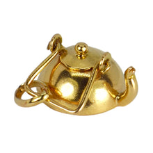 Load image into Gallery viewer, 18K Yellow Gold Teapot Charm Pendant