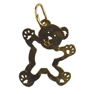 14 Karat Yellow Gold Teddy Bear Charm Pendant