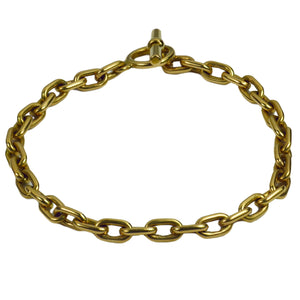 French Yellow Gold Toggle Clasp Oval Link Bracelet
