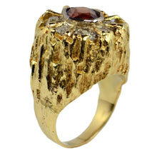 Load image into Gallery viewer, Brown Zircon Diamond Gold Modernist Ring