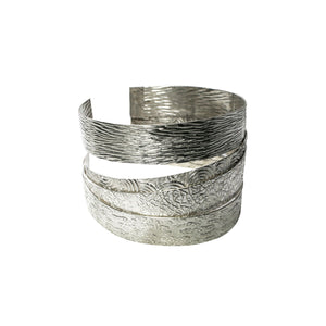 Pushaq Crafted 950 Sterling Silver Cuff Bracelet