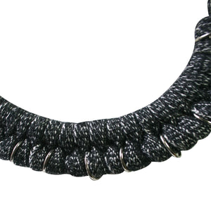 Pectoral mochica - Necklace 100% Cotton ~ Charcoal Gray