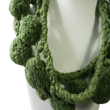 Load image into Gallery viewer, Chimu ceremonial balls - Necklace 100% Cotton ~ Leaf green