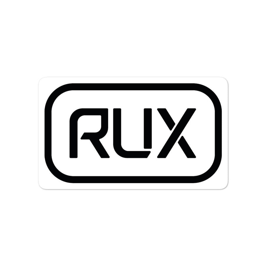 RUX Logo Bomb Stickers - BLACK