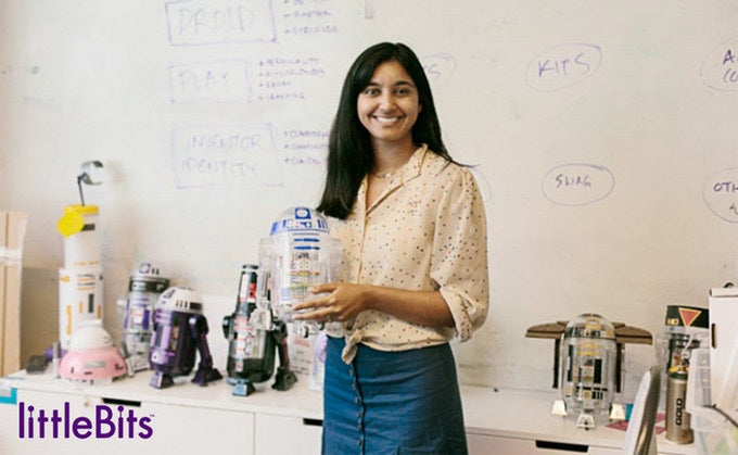Grouphug founder Krystal Persaud with the littleBits Droid Inventor Kit