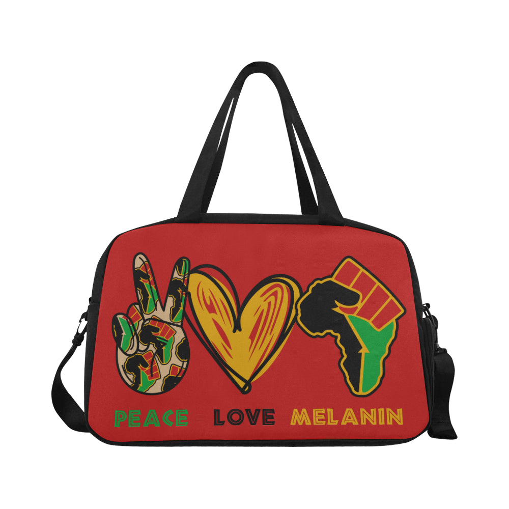 Peace Love Melanin Weekend Bag - Red
