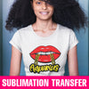 Aquarius Lips Chain Sublimation Transfer