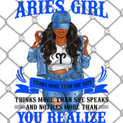 Aries Girl Sublimation Transfer