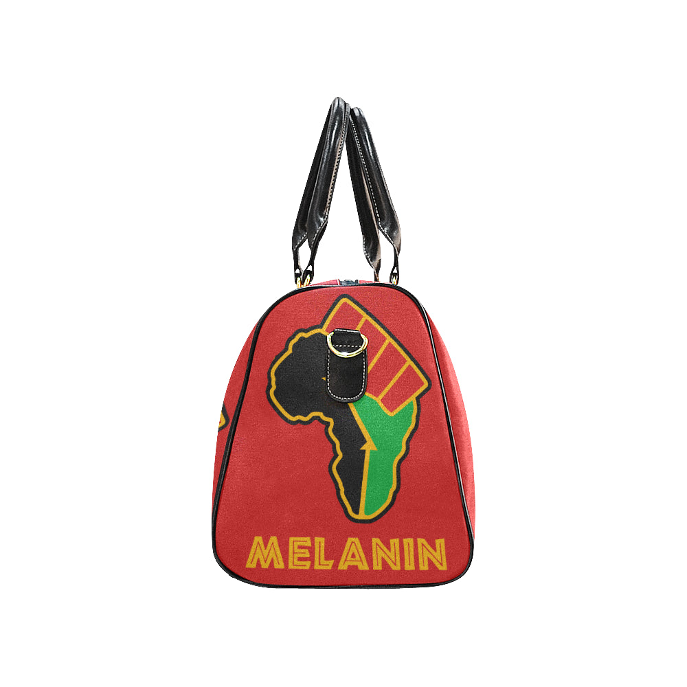 Peace Love Melanin Travel Bag -  Red