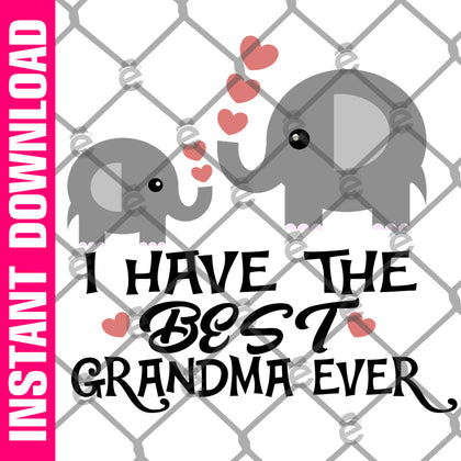Best Grandma Ever PNG SVG
