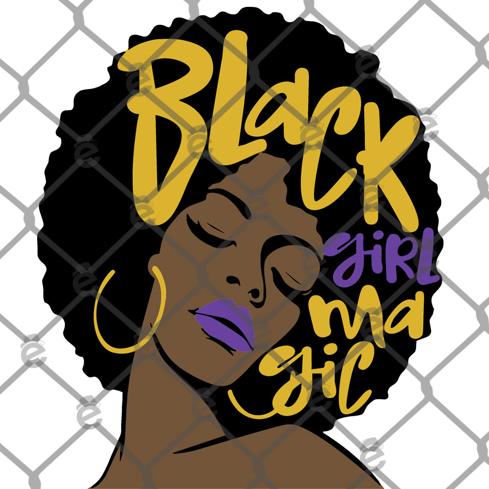 Black Girl Magic Sublimation Transfer