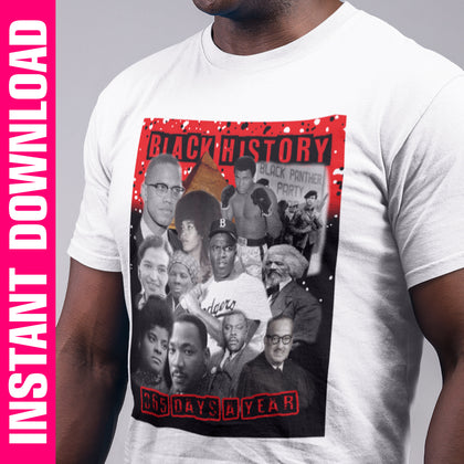 Black History 365 PNG Only - red