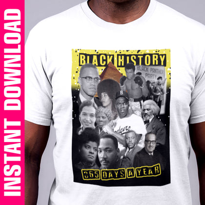 Black History 365 PNG Only - yellow